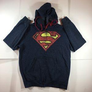 Superman Full Zip Jacket w/ Hoodie
